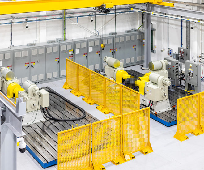 Electric motor test system, developed by UTAC, at Leyland test facility, UK formerly CSA and Millbrook