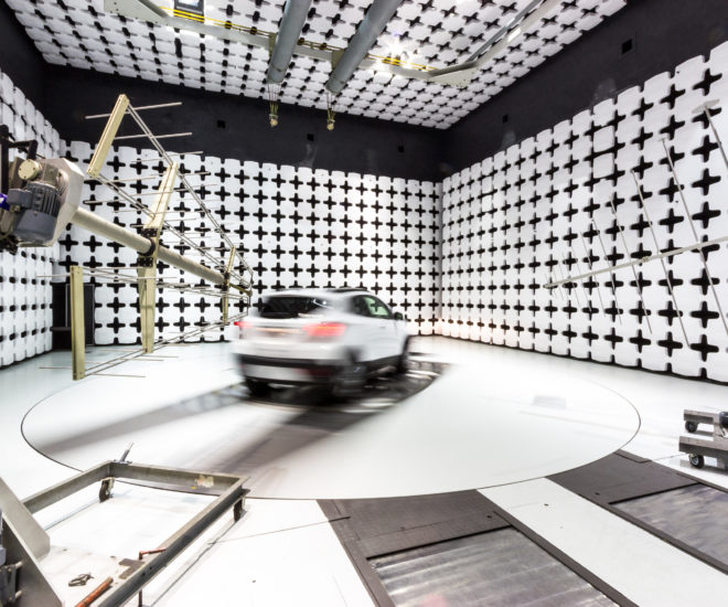 Electromagnetic compatibility chamber in UTAC's facility in France